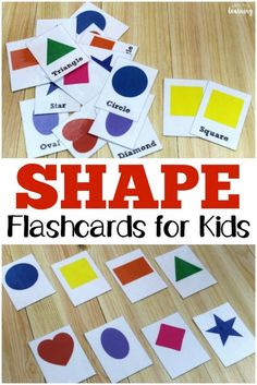 These free printable shape flashcards make it easy to help little ones learn their shapes! Shapes Flashcards, Color Flashcards, Printable Flashcards, Preschool Learning Activities, Infant Activities, Shapes For Toddlers, Flashcards For Toddlers, Printable Shapes, Learning Shapes