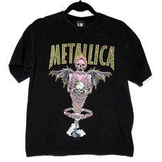 Small / Black Vintage Metallica Band Tee / 90s band tshirt. $15.00, via Etsy.