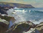 """Ray Roberts, """"Midday Light at Little Harbor, Catalina Island"""", oil, 30 x 40 inches"""
