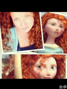 I wasn't engaged in cosplay...not wearing a wig...just being me!! Am I the real Merida??? Disney...call me