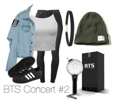 """""""BTS Concert Outfit #2"""" by jeonmia ❤ liked on Polyvore featuring 7 For All Mankind, adidas, Humble Chic and Hollister Co."""