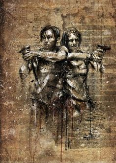 The Walking Dead | Glenn and Maggie by Emiliano Morciano