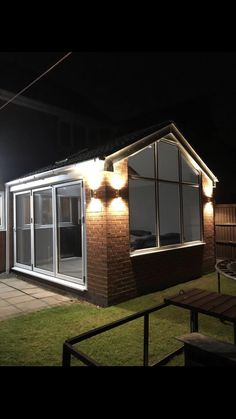Brick Extension, House Extension Plans, House Extension Design, Extension Ideas, Rear Extension, House Design, Conservatory Dining Room, Modern Conservatory, Conservatory Extension