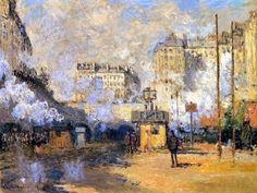 Claude Monet, Extérieur de la gare Saint-Lazare : vue sur le tunnels des