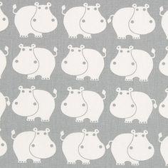Cretonne Lucky Hippo 2 - grau - Cretonne - Kinderdekostoffe - Kinderstoffe mit Tieren - Baumwollstoffe Tiere - Grau in Grau - stoffe. Nursery Fabric, Print Patterns, Creations, Arts And Crafts, Snoopy, Kids Rugs, My Love, Purple, Stuff To Buy