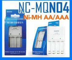 Sanyo  Eneloop NC-MQN04 Battey Charge Rechargeable AA/AAA Ni-MH