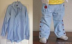 Переделки! Папина рубашка - превращается в стильные штанишки!