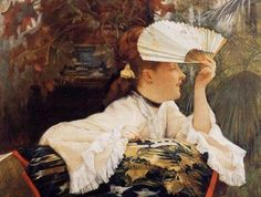 James Jacques-Joseph Tissot (1836 – 1902), Il ventaglio (1875)