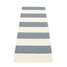 Pappelina BOB / Storm • Vanilla - tapis de couloir long tressé, fabriqué en Suède - design Pappelina