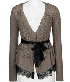 BKE boutique pucker cardigan sweater