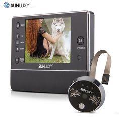 LCD Digital Camera Eye Video Intercom Monitor Doorbell Zoom IR Night Vision Home Security