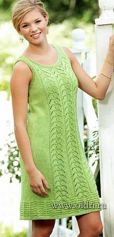 Вязаные платья, туники, длинные свитера и пуловеры