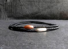 black seed beads sterling silver tube beaded mens bracelet / stretch bracelet for men / men minimalist bracelet Stretch Bracelets, Bracelets For Men, Beaded Bracelets, Black Seed, Seed Beads, Seeds, Rings For Men, Minimalist, Sterling Silver