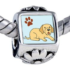 Pugster Bead Yellow Labrador Dog Beads Fits Pandora Bracelet Pugster. $12.49. Weight (gram): 3.75. Bead Size (mm): 7.46mm*8.09mm*12.09mm. Metal: base metal. Note: Snake chain is not included