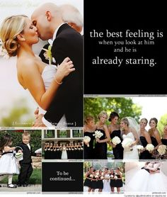 Black & White Weddings = colour theme style!
