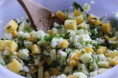 Cucumber-Mango Salsa.