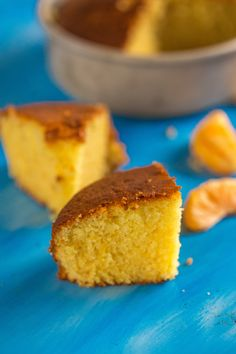 Eggless & Butter Orange Sponge Cake Recipe -- Just have to use kite hill instead of cow yogurt :) Eggless Desserts, Eggless Recipes, Eggless Baking, Vegan Recipes, Poke Cakes, Layer Cakes, Cupcake Cakes, Sponge Cake Orange, Eggless Orange Cake