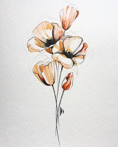 I have a cancellation tomorrow. If you want to get tattooed please send your idea, information about size and placement via mail please: design@juliarehme.com (This design is not available. Just an example ;) love to design florals again and again)