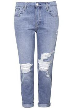 MOTO Blue Ripped Hayden Jeans - New In This Week - New In  #covetme #topshop #jeans #rippedjeans