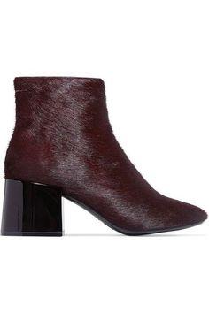 MM6 Maison Margiela - Calf Hair Ankle Boots - Burgundy - IT39.5