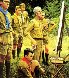 """""""Beyond the Easel""""  Norman Rockwell, 1969."""