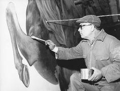 Aligi Sassu dipinge un murale a Ozieri   Artribune