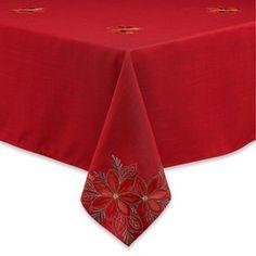 Sam Hedaya Poinsettia Filigree Tablecloth - BedBathandBeyond.com