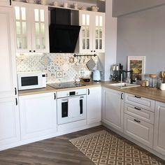 (notitle) - ideas for home renoviere Kitchen Lighting Design, Kitchen Room Design, Diy Kitchen Decor, Kitchen Interior, Interior Design Living Room, Modern Farmhouse Kitchens, Rustic Kitchen, Home Kitchens, Cuisines Design