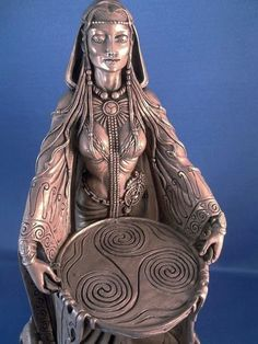Statue of Danu. Irish goddess of the earth and the great mother of Ireland, comparable to Cybele of Phrygia (Asia Minor, as a reference, think of the city of Troy)