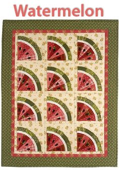 Watermelon Quilt Pattern, Cabbage Rose Quilt shop