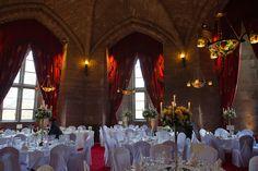 The Hexagonal Room at Peckforton Castle Peckforton Castle, Wedding Venues, Wedding Ideas, Table Decorations, Room, Home Decor, Wedding Reception Venues, Wedding Places, Decoration Home