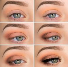 Fall eye makeup idea for blue eyes