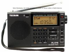 Tecsun PL-210 Digital PLL Portable AM/FM/LW Shortwave Radio, Black
