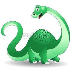 ☆SOLD!☆ #Baby #Brontosaur / #Dinosaur-#Vector © bluedarkat   http://it.fotolia.com/id/34834235#
