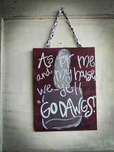 HandPainted Mississippi State Quote Canvas by DistressedAccents, $20.00