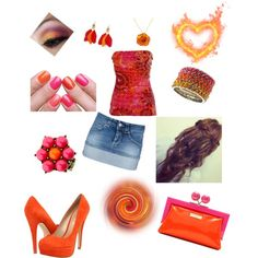 for him ♥ babes fave color is orange can ya tell?  , created by lilnelson707 on Polyvore