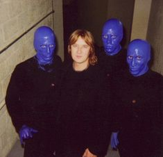Joe with Blue Man group in Vegas 2002