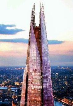The Shard, London. Been to the top on a lovely, clear, sunny day.