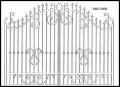 Entry Gate | Wrought Iron Gate | Iron Balusters