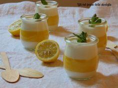 Panna cotta la lemon curd
