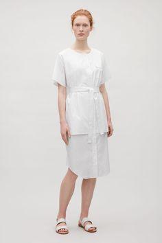 COS | Cotton poplin shirt dress