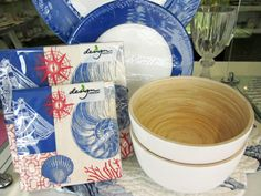 Marine creatures and bamboo wood make these pieces a must have this season!