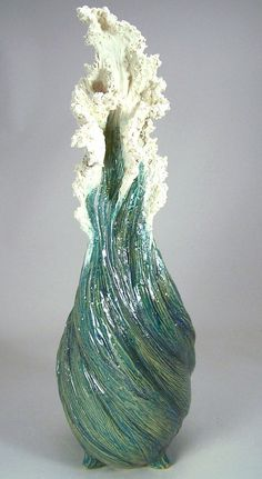 Original One-of-A-Kind Ceramic Sculpture by Denise Romecki of a Water Spout - for sale.