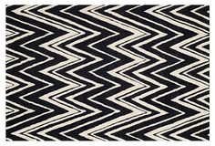 Manhattan Rug, Black/Ivory on OneKingsLane.com