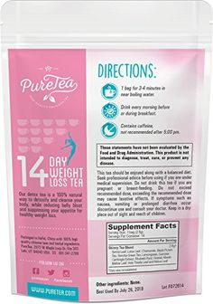 Get fit with PureTea 14 Day Weight Loss Tea and Green Tea Cleanse. This herbal tea blend is a 100% natural and gentle way to help the body cleanse using the time-honored purifying herbs of green tea and dandelion. PureTea 14 Day Weight Loss Tea has the cleansing properties and increased energy needed to help […]