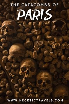 Go underground to find creepy Paris - hundreds of kms of tunnels and bones from over 7 million perished Parisians. The Catacombs, Parisians, Visit France, Bones, Creepy, Travel, Viajes, Parisian, Destinations