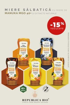 -15% reducere la gama inovatoare MANUKA SQUEEZE: miere crudă, 100% pură, cu miere de Manuka MGO 85+ și extracte naturale.  Produs inovator: miere crudă, 100% pură, cu miere de Manuka MGO 85+ și extracte naturale. Whole Food Recipes, Snack Recipes, Healthy Recipes, Helathy Food, Experiment, Good Food, Yummy Food, Raw Honey, Hair Health
