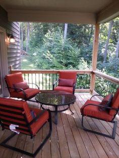 "Back deck off of main level living room ""Mystic Creek Villa"" vacation rental home off of Lake Shore Dr  Deep Creek Lake MD"