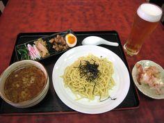 邦ちゃんラーメン: 「つけバル」グラスの生ビールとつけ麺セット