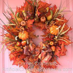 Bountiful Harvest Wreath - 2012 - #FallWreaths #AutumnWreaths